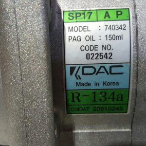 Lốc điều hòa xe Chevrolet Captiva máy dầu