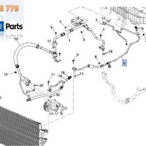 Sơ đồ ống điều hòa xe Captiva 2014-2018