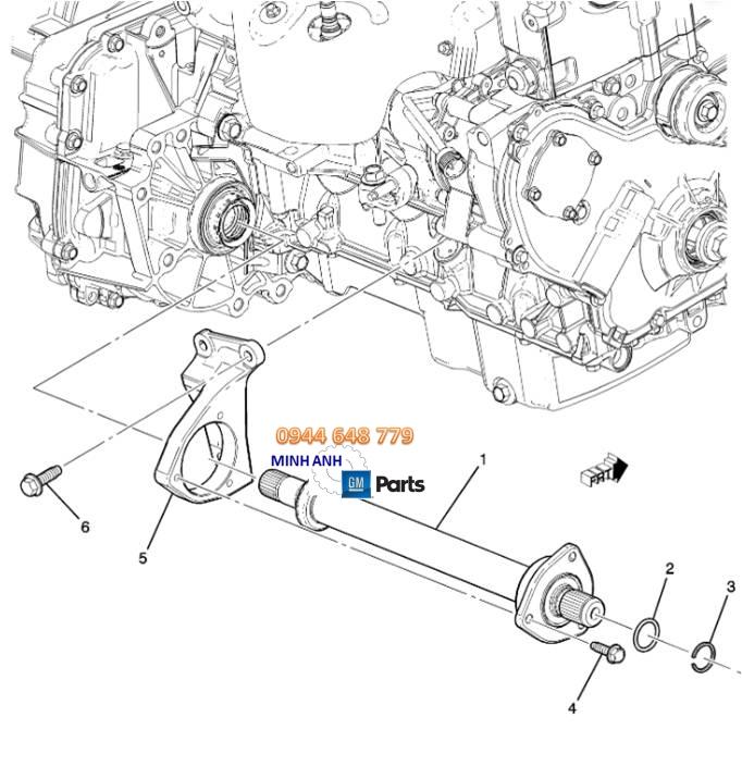 Láp trung gian xe Captiva C140 chính hãng GM
