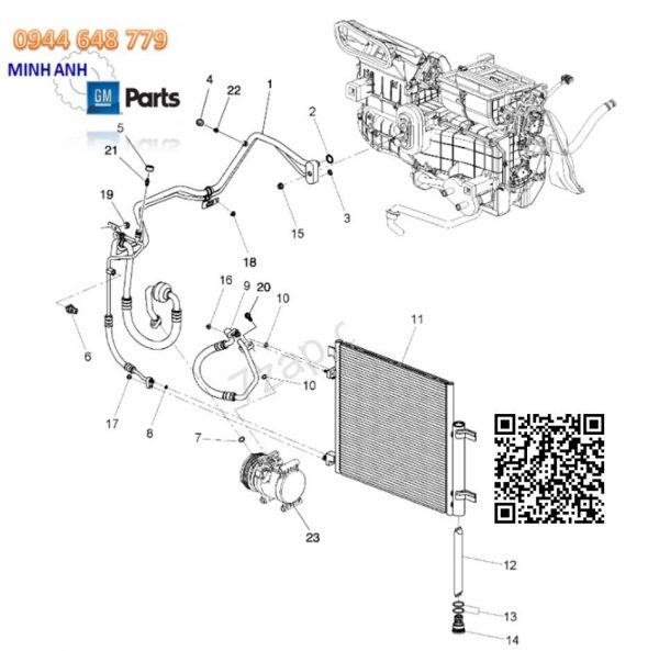 Giàn nóng điều hòa xe Spark M300 chính hãng GMGiàn nóng điều hòa xe Spark M300 chính hãng GM